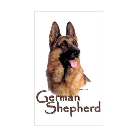 German Shepherd Dog-1 Rectangle Sticker