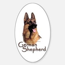 German Shepherd Dog-1 Oval Decal