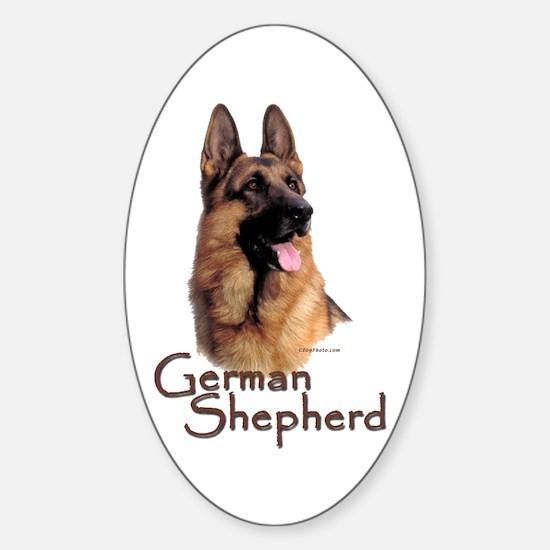 German Shepherd Dog-1 Oval Decal