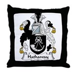 Hathaway Family Crest Throw Pillow