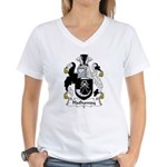 Hathaway Family Crest Women's V-Neck T-Shirt