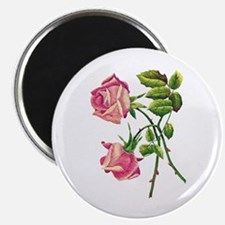 A PAIR OF PINK ROSES Magnet