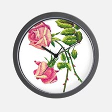A PAIR OF PINK ROSES Wall Clock