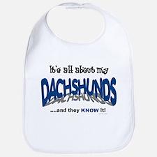 All About My Dachshunds Bib