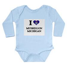 I love Muskegon Michigan Body Suit