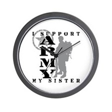 I Support Sister 2 - ARMY Wall Clock