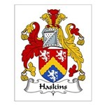 Haskins Family Crest Small Poster