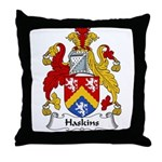 Haskins Family Crest Throw Pillow