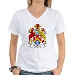 Haskins Family Crest Women's V-Neck T-Shirt