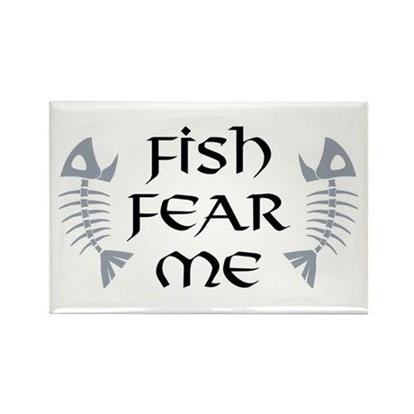 Fish Fear Me Rectangle Magnet