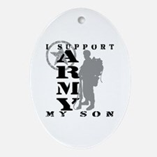 I Support Son 2 - ARMY Oval Ornament