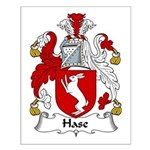 Hase Family Crest Small Poster