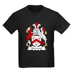 Harwood Family Crest Kids Dark T-Shirt