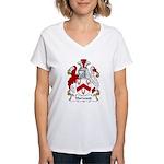 Harwood Family Crest Women's V-Neck T-Shirt