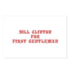Bill Clinton for First Gentleman-Pre red 550 Postc