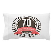 70 Years Anniversary Laurel Badge Pillow Case