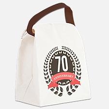 70 Years Anniversary Laurel Badge Canvas Lunch Bag