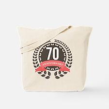 70 Years Anniversary Laurel Badge Tote Bag
