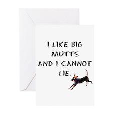 I like big mutts Greeting Card