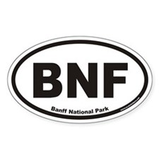 Banff National Park BNF Euro Oval Decal