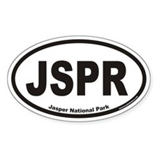 JSPR Jasper National Park Euro Oval Decal