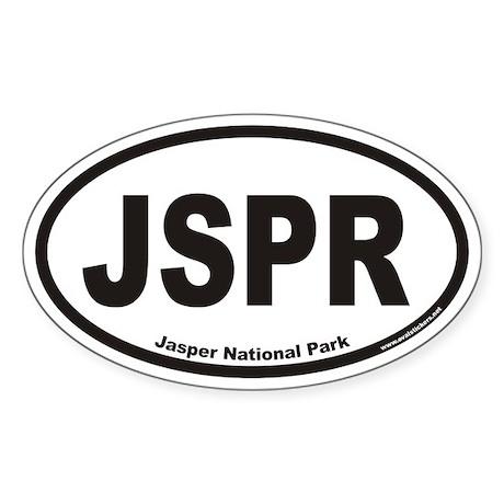 JSPR Jasper National Park Euro Oval Sticker