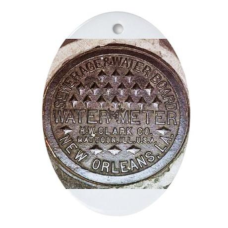 N.O. Water Meter Oval Ornament