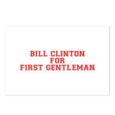 Bill Clinton for First Gentleman-Var red 500 Postc