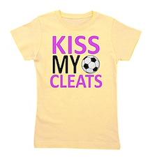 Kiss My Cleats Girl's Tee