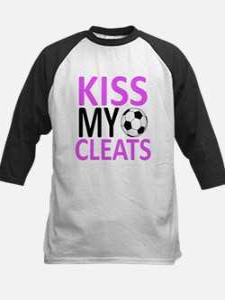 Kiss My Cleats Kids Baseball Jersey