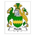 Harold Family Crest Small Poster