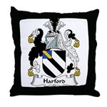 Harford Family Crest Throw Pillow