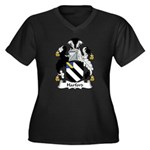 Harford Family Crest Women's Plus Size V-Neck Dark