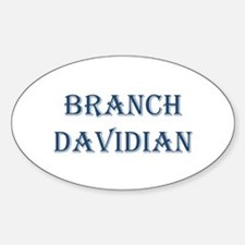 Branch Davidian Oval Decal