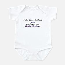 God Gave Me A Golden Retriever Infant Bodysuit