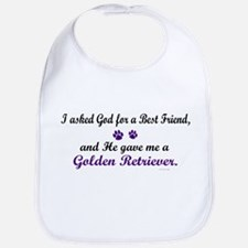 God Gave Me A Golden Retriever Bib