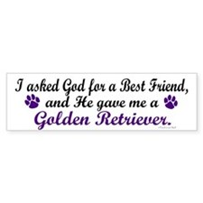 God Gave Me A Golden Retriever Bumper Bumper Sticker