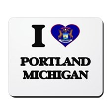 I love Portland Michigan Mousepad