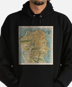 Vintage Map of San Francisco (1915) Hoodie (dark)