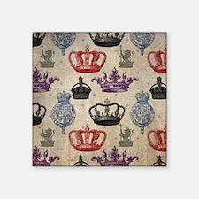 "Unique Crowned regal Square Sticker 3"" x 3"""