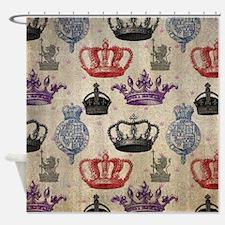 Unique Vintage pink royal crown Shower Curtain