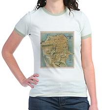 Vintage Map of San Francisco (1915) T-Shirt