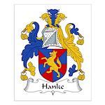 Hanke Family Crest Small Poster