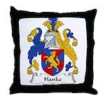 Hanke Family Crest Throw Pillow