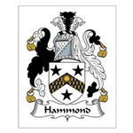 Hammond Family Crest Small Poster