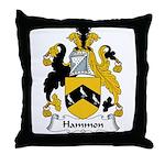 Hammon Family Crest Throw Pillow