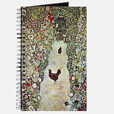 Garden Path with Chickens by Klimt Journal