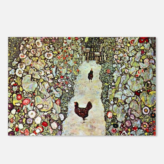 Garden Path with Chickens Postcards (Package of 8)