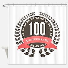 100 Years Anniversary Laurel Badge Shower Curtain