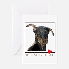 Dobies Have Heart Greeting Cards (Pk of 20)